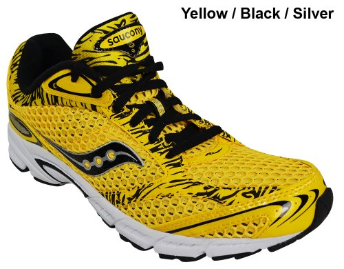 Saucony Men's Grid Fastwitch 4 Running Shoe,Yellow/Black,10.5 M