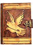 Two Flying Birds Vintage Style Handmade Leather Amazon Kindle Cover Case For Kindle Touch - Kindle 4 - Kindle 5 - Kindle Paperwhite