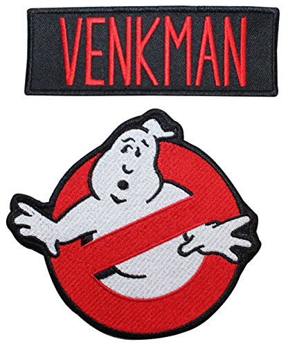 Ghostbusters Venkman Name Tag & No Ghost Embroidered Iron On