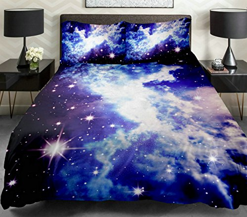 Anlye Galaxy Duvet Cover Galaxy Teen Bedding Galaxy Sheets Space Sheets Girls Bedding Set Purple Bedding With 2 Matching Throw Pillow Covers For Home Decor (King) front-1067005