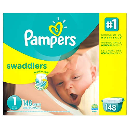 Pampers Swaddlers Diapers Size 1 Giant Pack 148 Count