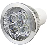 6 X 4W Ultra Bright GU10 LED Light Bulb Day White 6000k 40W Equivalent, Energy Saving, Perfect for Replacing 50 - 60 Halogen Bulbs