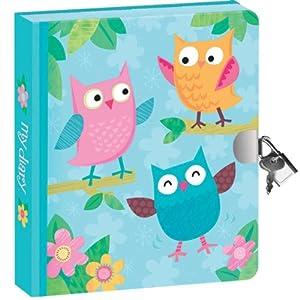 Peaceable Kingdom / Lock & Key Diary 'Owls'