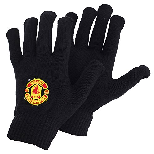 manchester-united-fc-herren-strick-handschuhe-mit-club-wappen-one-size-schwarz