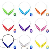 """Best_Express """"U"""" Series Hv-800 Wireless Music A2dp Stereo Bluetooth Headset Universal Vibration Neckband Style Headset Earphone Headphone for Cellphones Such As Iphone Nokia Htc Samsung Lg Moto Pc Ipad PSP and so on & Enabled Bluetooth (Purple)"""