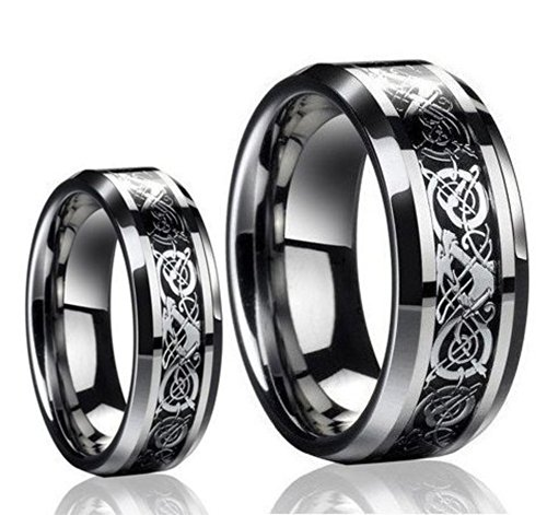 couples promise rings sets for him and her his hers commitment rings for cheap on flipboard - Black Wedding Rings For Him And Her