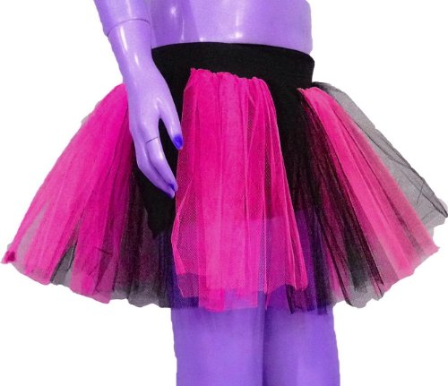 Uv Neon Hot Pink 2 Tone Tutu Skirt Dance Fancy Costume Dress Party Free Shipping
