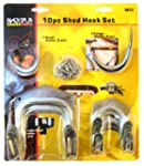 Blackspur Shed Hook Set - 10 Pieces B...