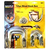 Blackspur Shed Hook Set - 10 Pieces BB-HA117by Blackspur