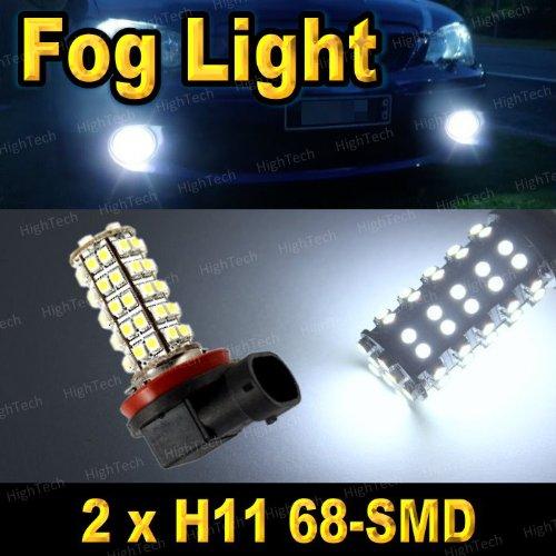 Pair Super White H11 68-Smd Led Headlight Bulbs For Driving Fog Light / Day Time Running Light Drl