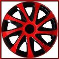 4 Radkappen 15 ROT Radzierblenden Radblenden Satz 15 Zoll schwarz rot INKL. MONTAGEANLEITUNG NEU & OVP TOP ANGEBOT ! von TEILE-24.EU Malinowski auf Reifen Onlineshop