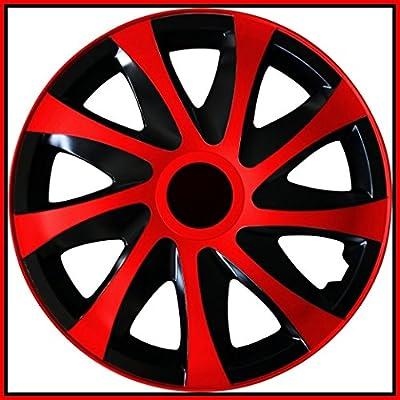 4 Radkappen 13 ROT Radzierblenden Radblenden Satz 13 Zoll schwarz rot Neu & OVP von TEILE-24.EU Malinowski auf Reifen Onlineshop