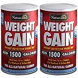 Naturade Weight Gain Instant Nutrition Drink Mix, Vanilla ,