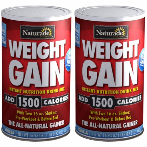 Naturade Weight Gain Instant Nutrition Drink Mix, Vanilla , 16.93-Ounces  (Pack of 2)