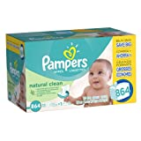 Pampers Natural Clean Wipes 12x Box with Tub 864 Count by American Health & Wellness