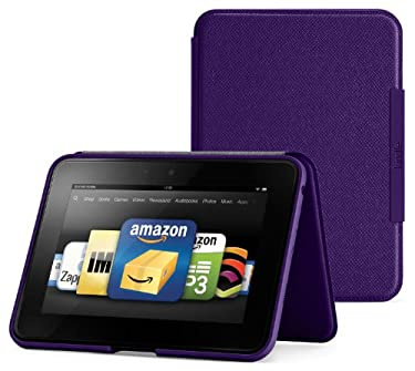 "Amazon Kindle Fire HD 7"" (Previous Generation) Standing Leather Case, Royal Purple (will only fit Kindle Fire HD 7"", Previous Generation)"