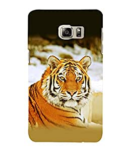 printtech Tiger Stunning Look Back Case Cover for Samsung Galaxy Note 5 Edge::Samsung Galaxy Note 5 Edge 2