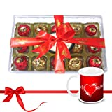Chocholik Luxury Chocolates - Charming Collection Of Wrapped Chocolates With Love Mug