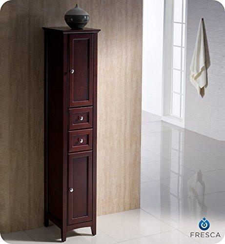 Fresca Bath FST2060MH Oxford Bathroom Linen Cabinet, Tall, Mahogany (Mahogany Kitchen Cabinets compare prices)