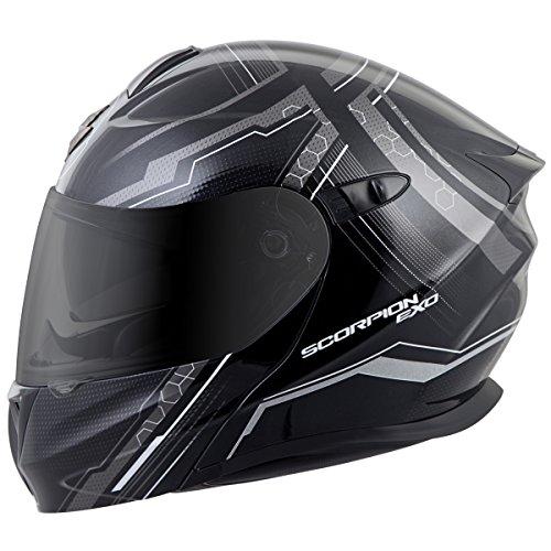 ScorpionExo EXO-GT920 Full Face Modular Helmet (Satellite Silver, XX-Large)