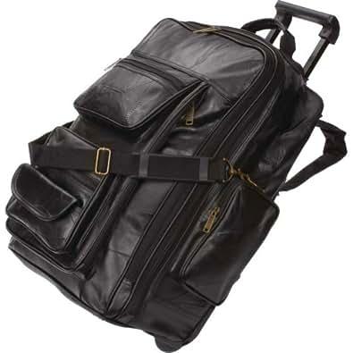 Embassy LUBPREXP Embassy Italian Stone Design Genuine Leather Trolley Bag/backpack