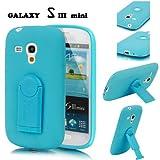 Estuche Protector E-LV con soporte removible color Aqua para Samsung Galaxy S3 Mini.