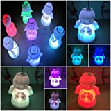 1 Pcs Creditable Modern LED Angel Shape Nightlight 7 Multicolor Gift Colorful Lamp Xmas Home Decoration Body Color White