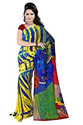 Athena Fashion presentGeorgate Laser Printed Woman Saree With blouse