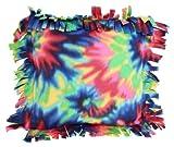Haan Crafts Alpine Fleece Fringed Pillow Sewing Kit, 14-Inch, Tie-Dye