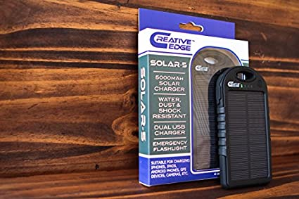 Creative Edge 5000mAh Solar Charger Power Bank