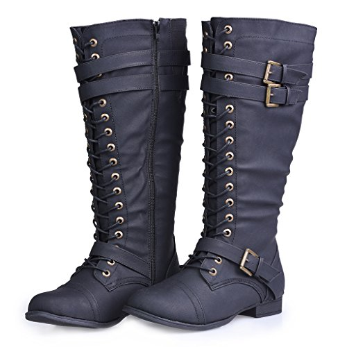 twisted s trooper knee high extended calf faux