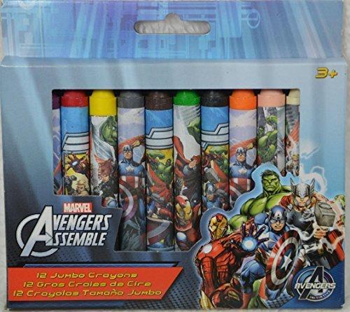 Avengers Assemble Jumbo Crayons - 12 Pack