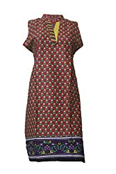 Tulip Collections Women's Cotton Kurti (Large, Red)
