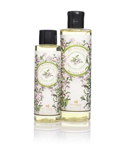 Panier des Sens Energizing Verbena Shower Gel & Massage Oil, Set of 2