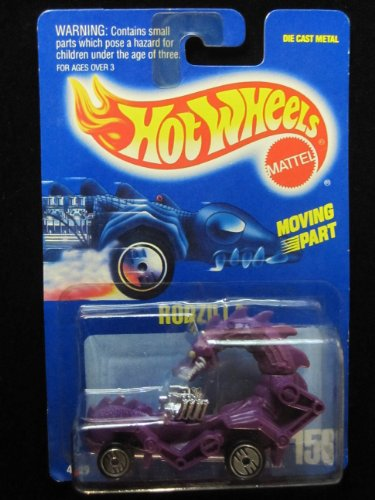 Rodzilla on All Blue Card 1990 Hot Wheels #156 Purple W/ultra Hot Wheels - 1