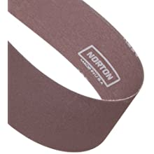 "Norton Metalite R228 Backstand Abrasive Belt, Cotton Backing, Aluminum Oxide, 8"" Width, 107"" Length, Grit 80 (Pack of 20)"