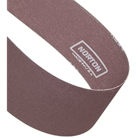Norton Metalite R228 Backstand Abrasive Belt, Cotton Backing, Aluminum Oxide