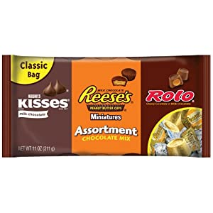 Hershey's Chocolate Assortment, 11-Ounce Bags (Pack of 4)