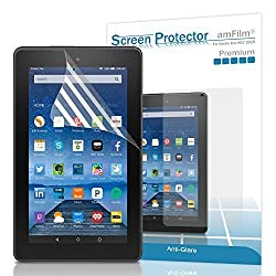 Fire 7 2015 Screen Protector, amFilm New Kindle Fire 7