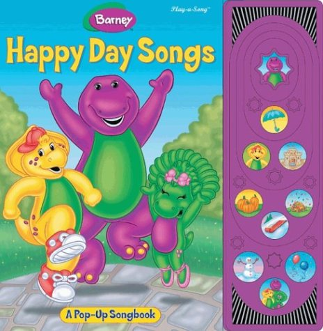 Barney Happy Day Songs (Pop Up Song Book) front-1084385