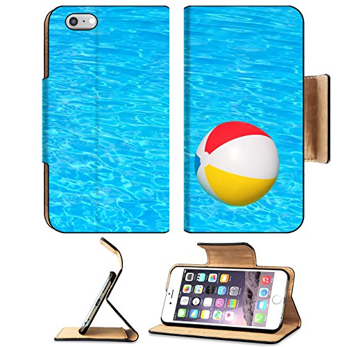 Flip Pu Leather Wallet Case Apple iPhone 6 Plus iPhone 6S Plus MSD Premium Inflatable ball floating in swimming pool IMAGE 30548029