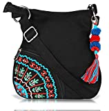 #8: Sling Bag Pick Pocket Women's Sling Bag (Black,Slblkbside55)