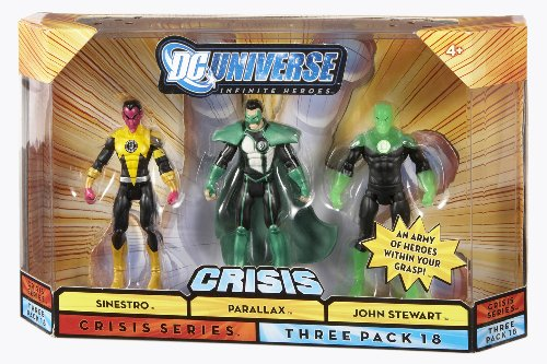 Buy Low Price Mattel DC Universe 75th Anniversary Infinite Heroes Parallax, Sinestro, John Stewart Figures (B001O2S6UO)