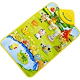 Touch Play,Baomabao Kids Baby Farm Animal Musical Music Singing Gym Carpet Mat Toy Gift