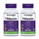 Natrol Melatonin Fast Dissolve Tablets, Strawberry flavor, 5mg, 90 Count (2 Pack)