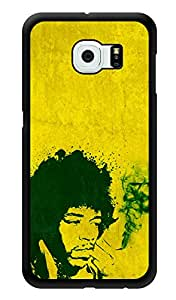 """Humor Gang Jimi Hendrix Smoking Printed Designer Mobile Back Cover For """"Samsung Galaxy S6"""" (3D, Glossy, Premium Quality Snap On Case)"""