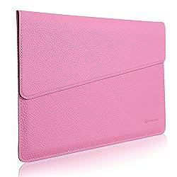 MacBook 12 Sleeve, Evecase Slim Envelope Sleeve Leather Case For Apple 2015 New Macbook 12-inch Laptop - Pastel Pink