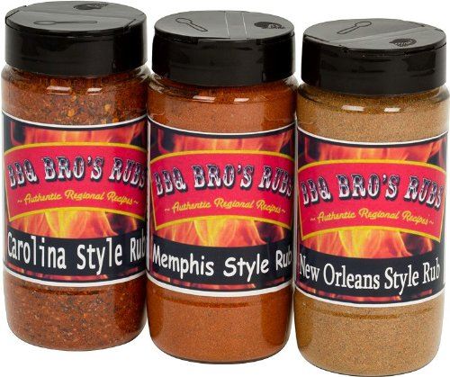 BBQ BROS RUBS {Southern Style} - Ultimate Barbecue Spices Seasoning Set - Use for Grilling, Cooking, Smoking - Meat Rub, Dry Marinade, Rib Rub - Backed with 100% Customer Guarantee (Dry Meat Rubs compare prices)
