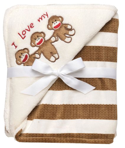 Sock Monkey Plush Blanket by Baby Starters