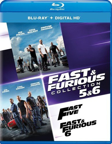 Blu-ray : Fast & Furious Collection: 5 & 6 (Ultraviolet Digital Copy, Snap Case, Digital Copy, Digitally Mastered in HD, 2 Pack)